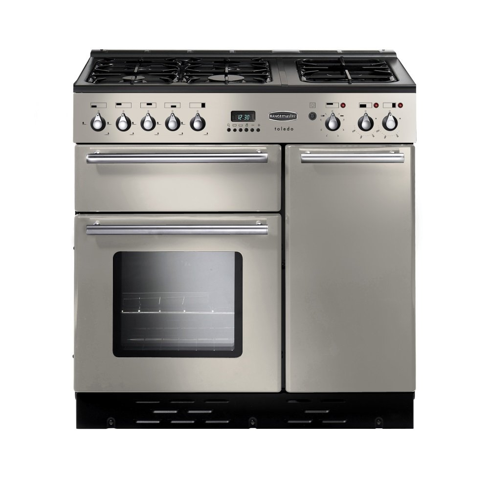 rangemaster toledo 90 gas range cooker champagne. Black Bedroom Furniture Sets. Home Design Ideas