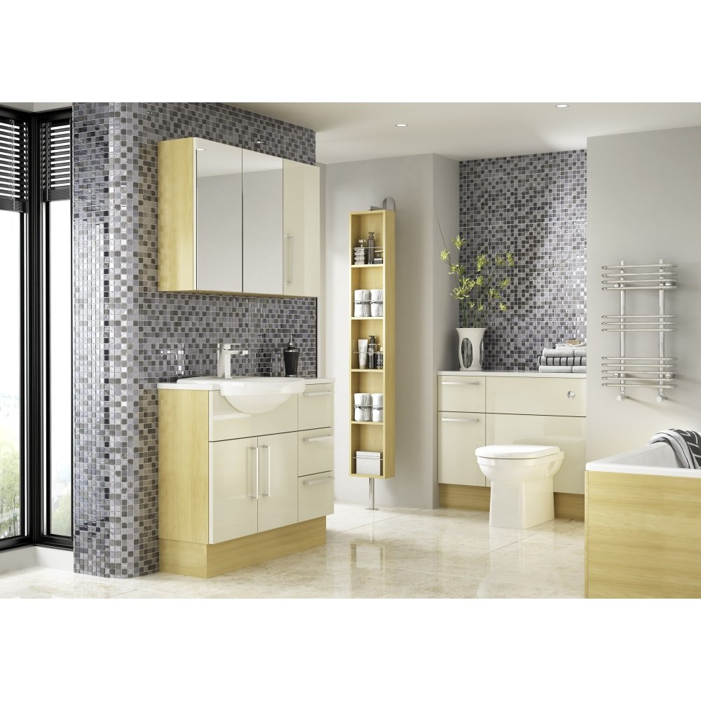 Shades Aspen Fitted Bathroom Furniture In Ivory Shades From Homecare Suppli