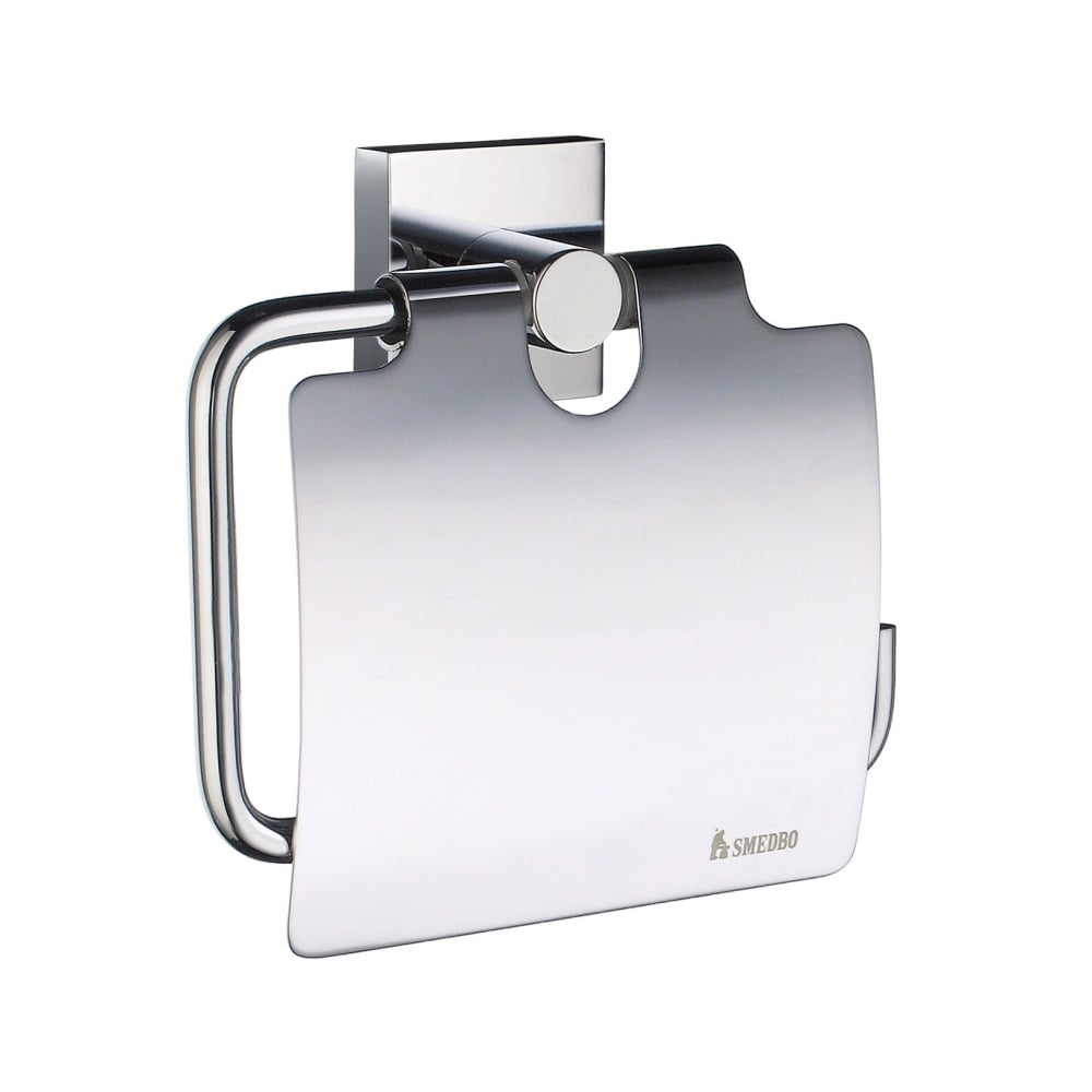 House toilet roll holder lid rs3414 brushed chrome for Bathroom accessories toilet roll holder