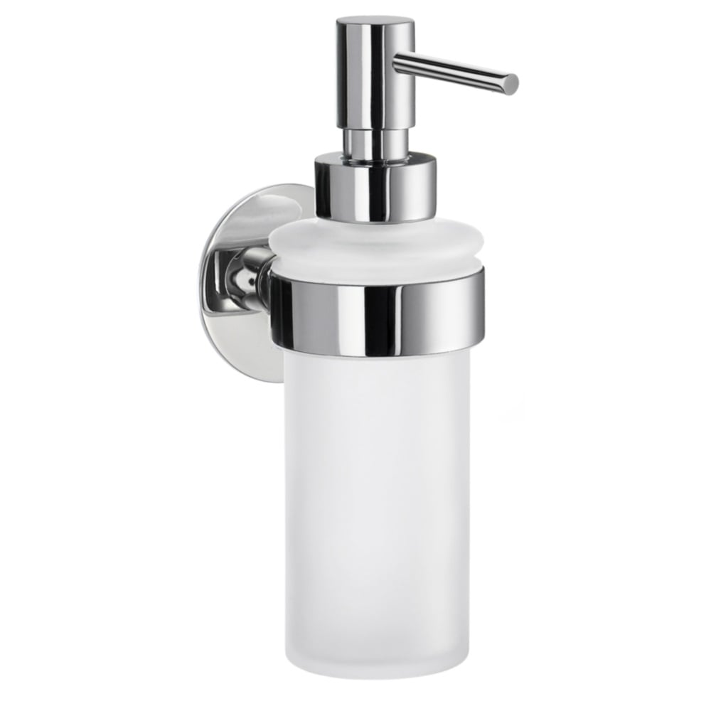 Time Holder With Glass Soap Dispenser Yk369 Polished Chrome