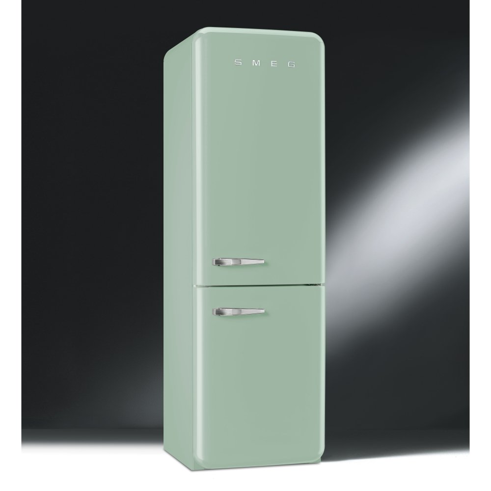 smeg fab 50 39 s retro fab32rfg fanned fridge freezer pastel green with chrome handles. Black Bedroom Furniture Sets. Home Design Ideas