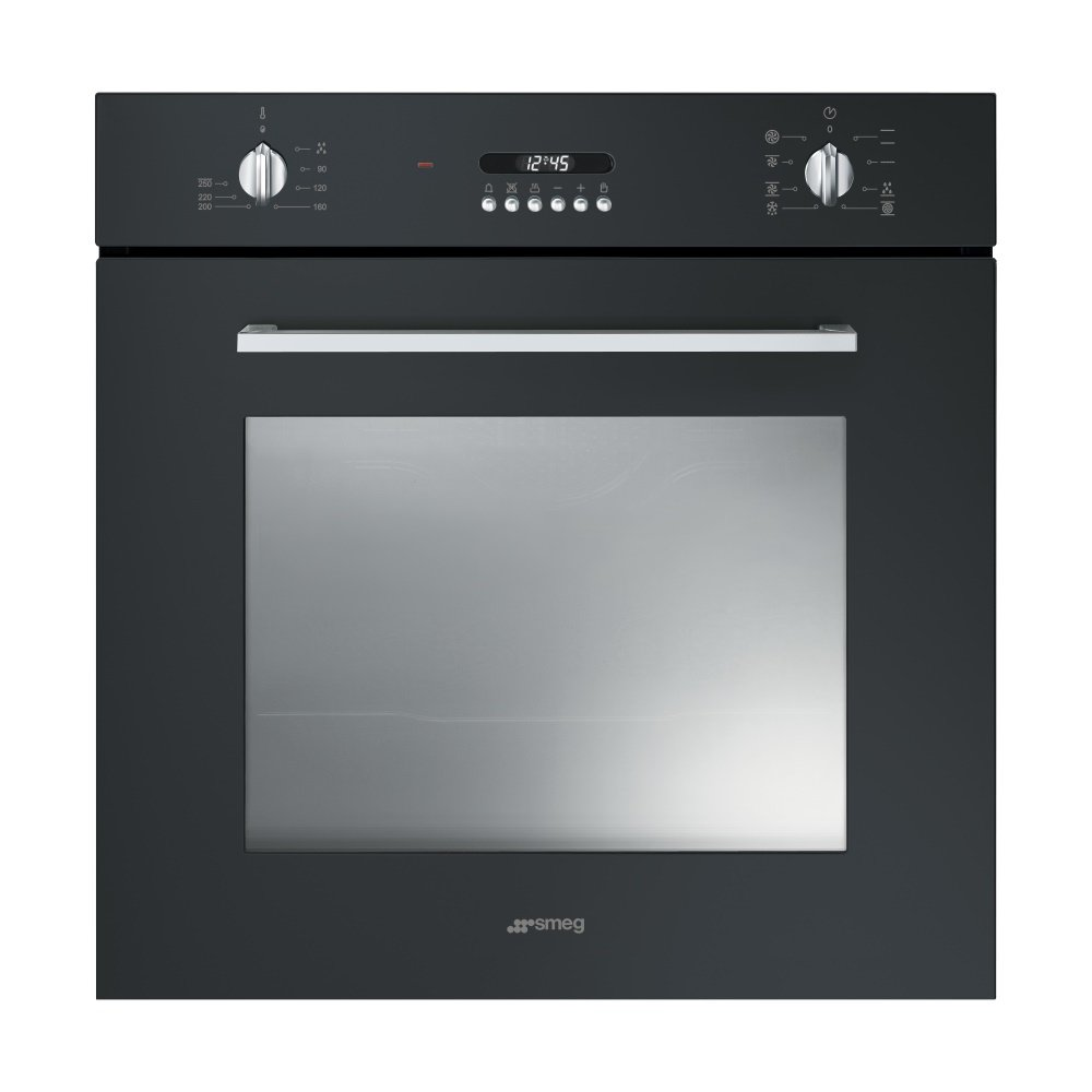 Smeg sf478n cucina multifunction single oven in black for Cucina smeg