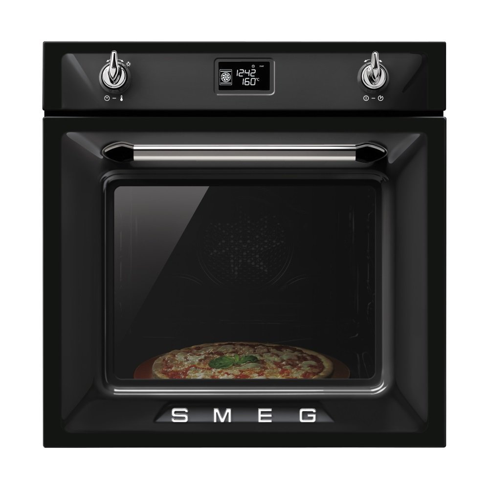 Smeg Sfp6925npz Victoria Pyrolytic Multifunction Oven In Black