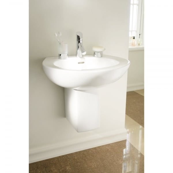 Heritage bathrooms sonic round bathroom suite in white for Heritage bathrooms