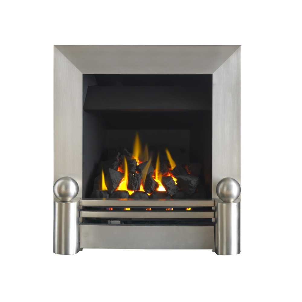 blakely airflame convector remote gas fire 0505731 brushed chrome