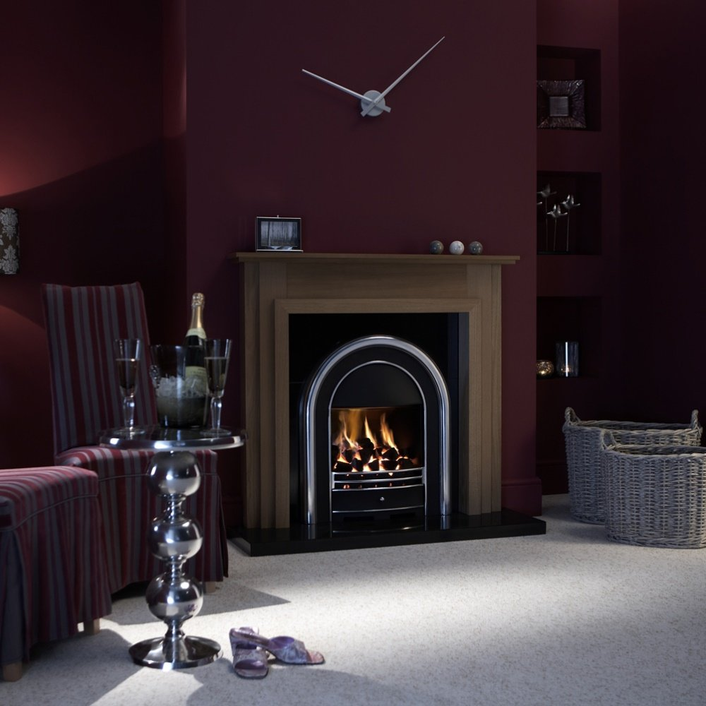 bloomsbury airflame convector remote gas fire 0505741 black and silver
