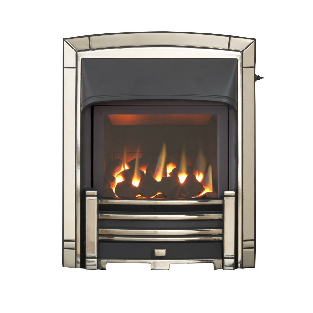 homeflame masquerade he full depth gas fire 0596102 in pale gold