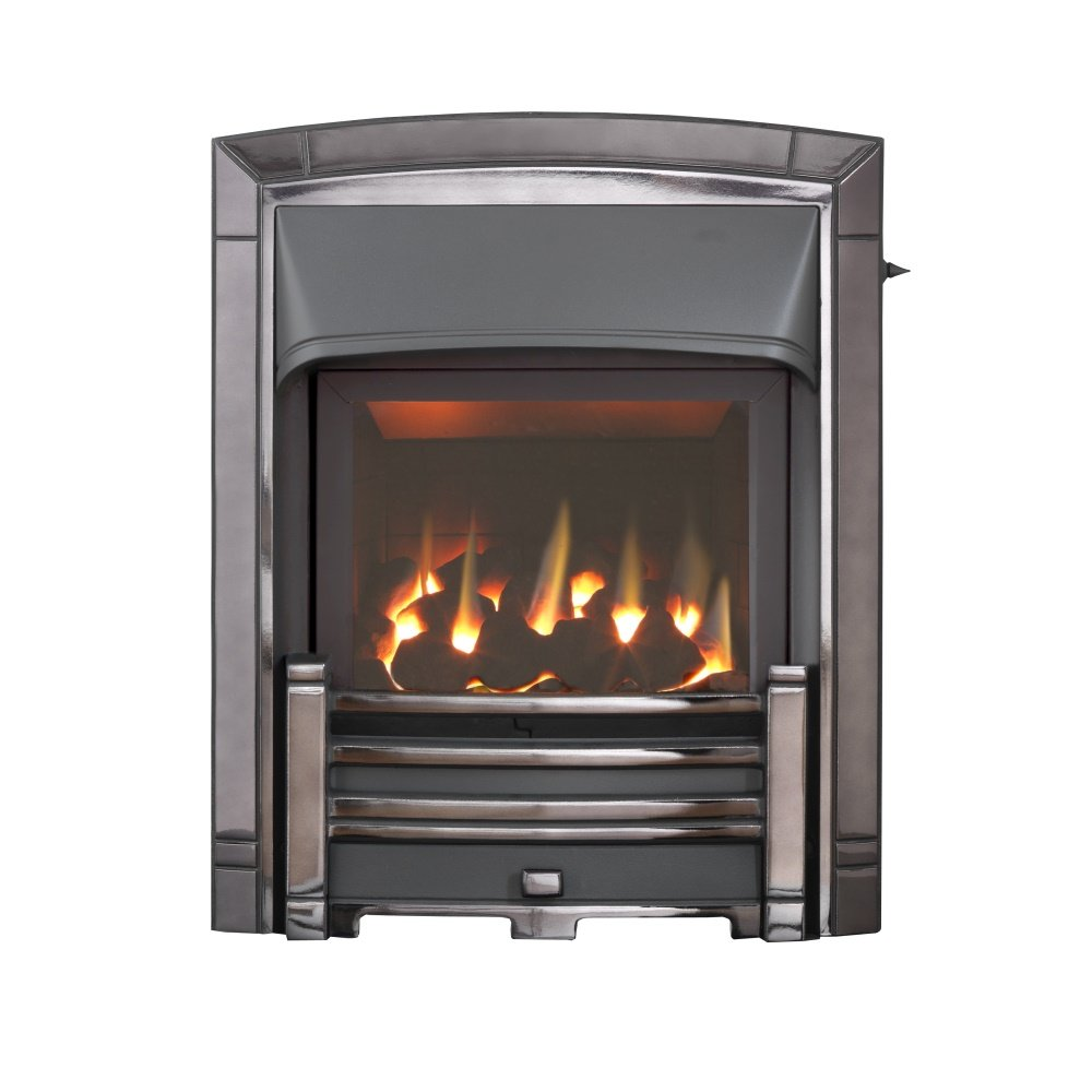 homeflame masquerade he full depth gas fire 0596112 in black nickel. Black Bedroom Furniture Sets. Home Design Ideas